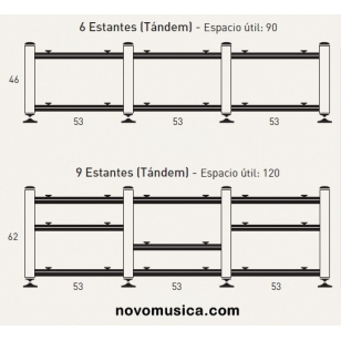 Artesania Audio Kit 19 IMPROVED Triple Tandem (sin baldas) Mueble HIFI con trata