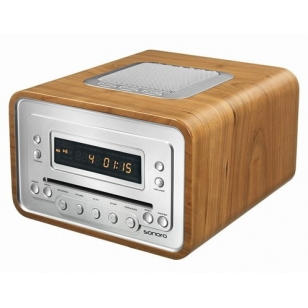Sonoro Cubo Mini cadena. Radio/Cd, despertador.