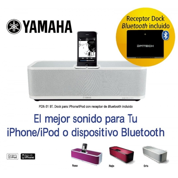 Altavoz para iPod Yamaha PDX-31 Bluetooth