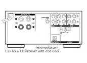 Teac CRH-227i Mini cadena base externa dock Ipod, CD con MP3, 2x25Watios. Radio