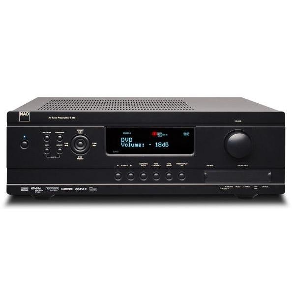 NAD T 715HD Procesador A/V. Dolby Digital y DTS HD. 4 HDMI 1.3, Entradas digital