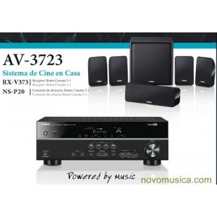 Home Cinema Yamaha AV-3723  Cine en Casa 5.1 compuesto por receptor RX-V373 de 1