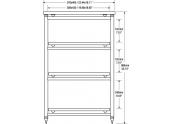 Solidsteel 5.4 mueble de audio de cuatro estantes