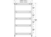 Solidsteel 5.5 mueble de audio de cinco estantes y altura de 107 cms