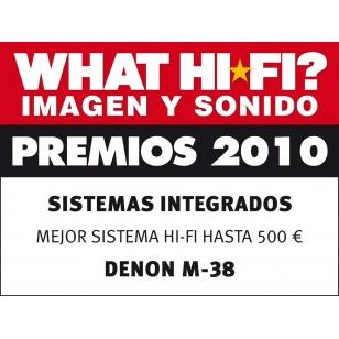 Denon D-M38 Micro cadena, lector CD, radio AM/FM. USB iPod direct, 30W x2b. Prem