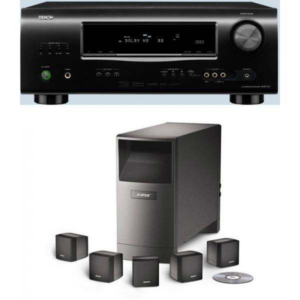 Denon AVR1311 + Bose AM6 SIII Conjunto formado por receptor de Audio Vídeo Denon