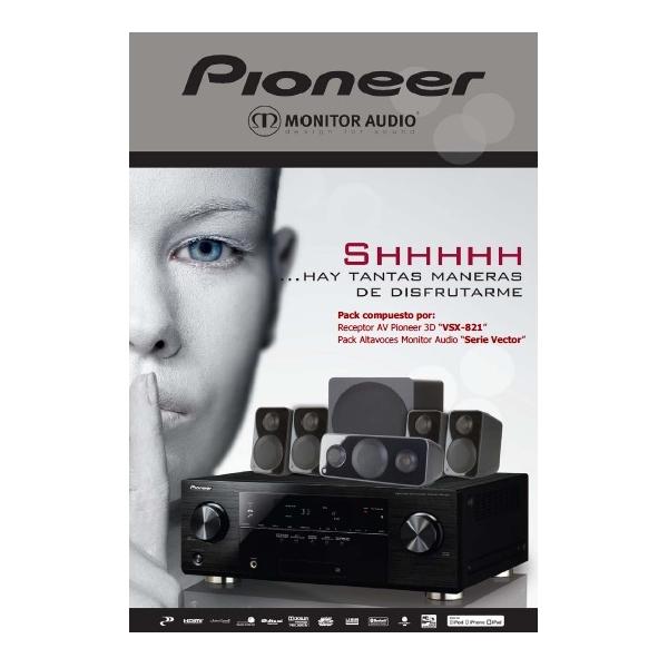 Pioneer XD-821 Vector Silver Pack Conjunto HC compuesto por Pioneer VSX-821 y al