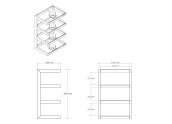 Norstone Esse HIFI mueble equipo sonido de 4 estantes. Altura 86 cms. Cristales