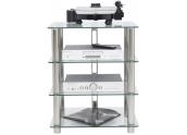 Norstone Epur 4 Mueble para equipos sonido 4 estantes transparentes, estructura