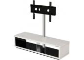 Norstone Saeby mueble televisión 150 cms de ancho lacado en blanco interior negr