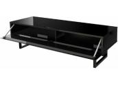 Norstone Lunde Mueble televisión lacado en negro con 134 cms de ancho